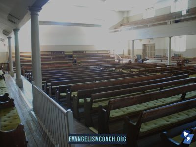 Empty Church Pews in Historic Church