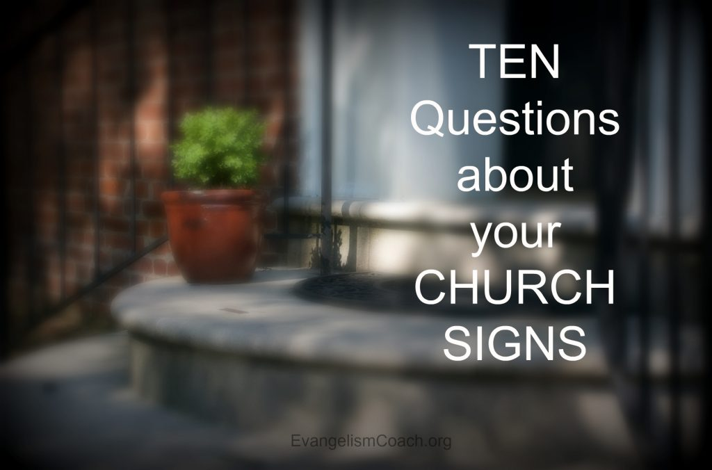 10 Questions about Your Church Signs