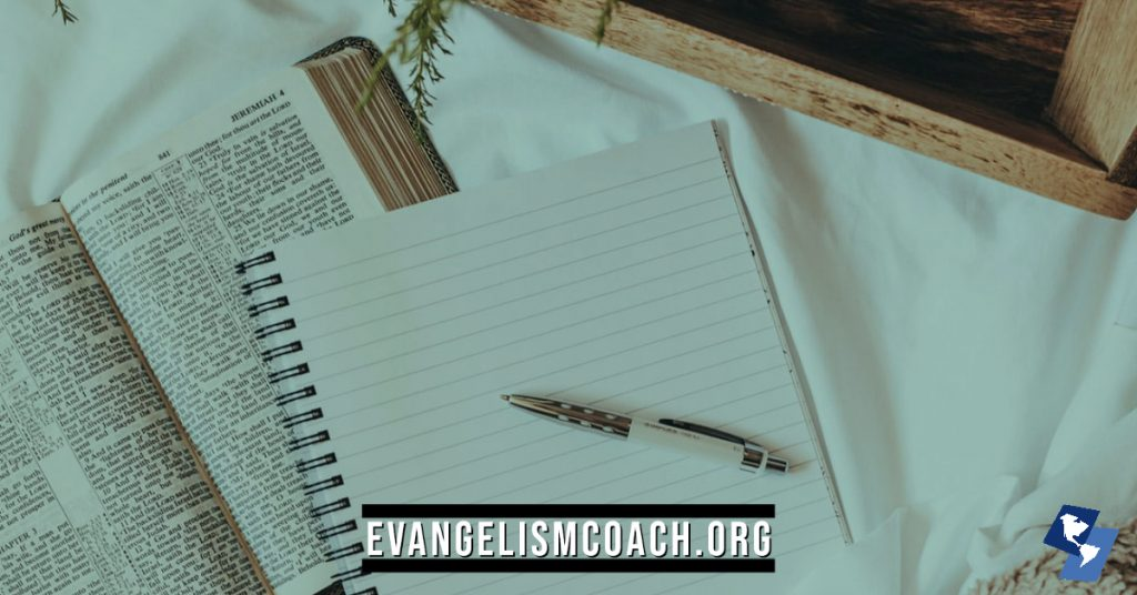 Notebook.  Evaluate yourself when it comes to personal evangelism.  Here are 13 reflection questions to help you examine your heart.