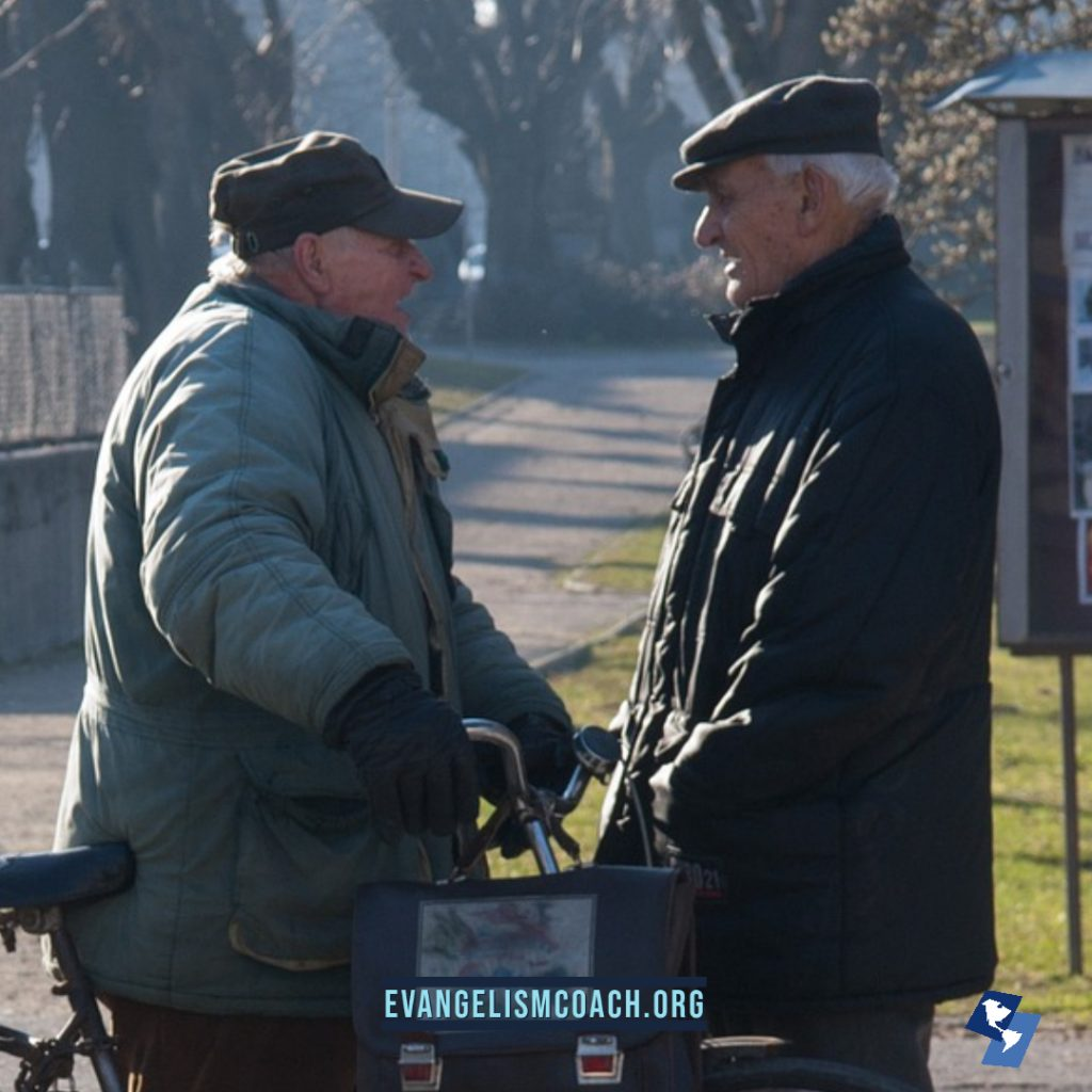 Passion for Evangelism, two men talking