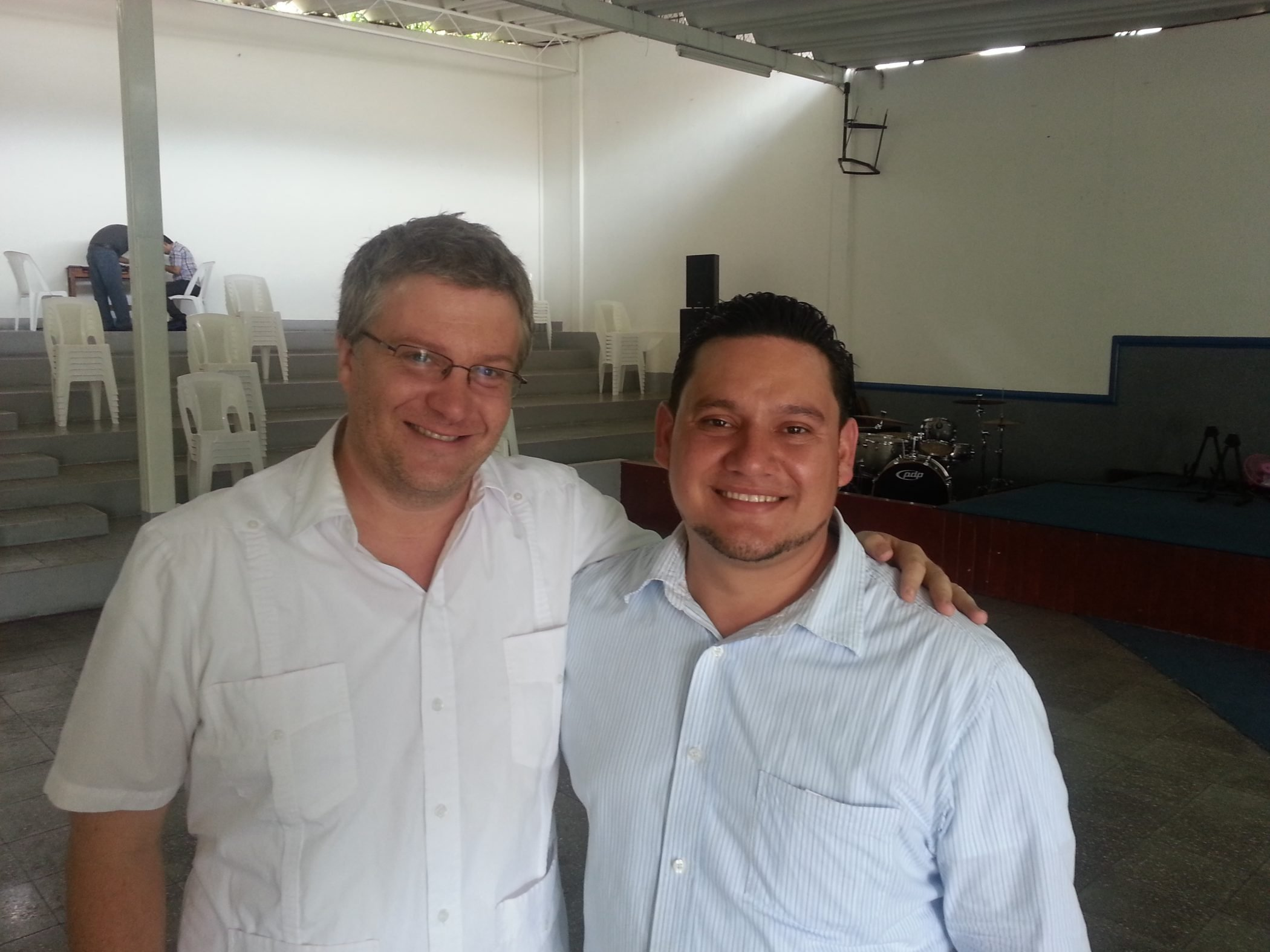 Chis poses with a Coaching Pastor in Nicaragua