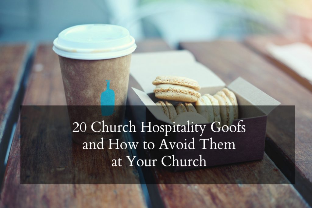 Church Hospitality Mistakes - headline on Donuts and Coffee