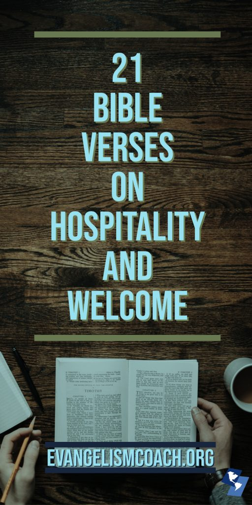 21 Bible Verses on Hospitality and Welcome from the New International Version