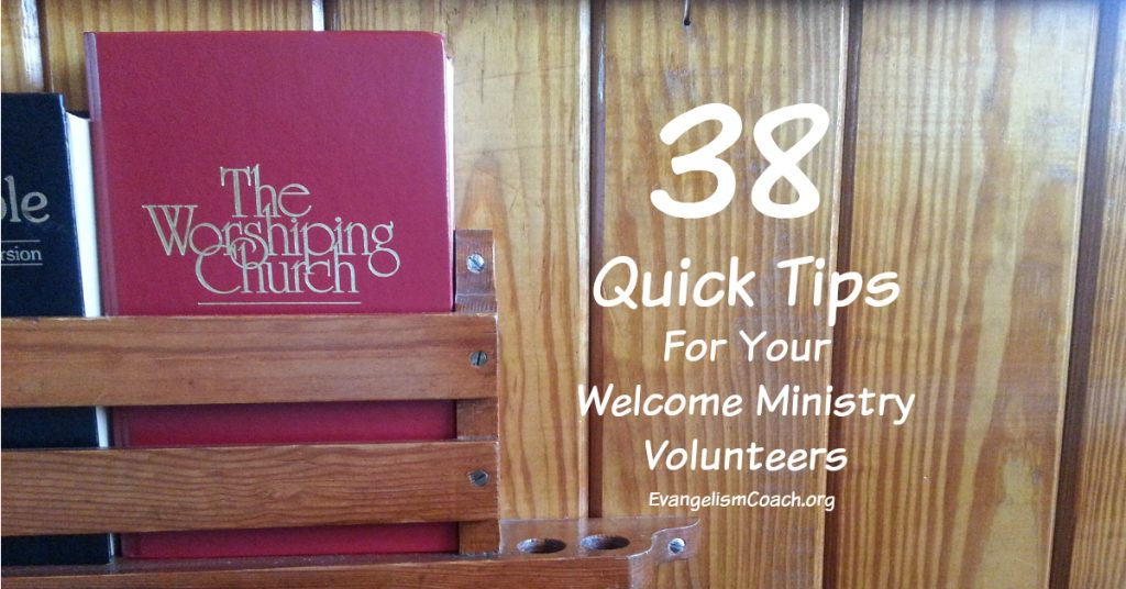 38 Quick Church Hospitality Tips, Wooden Church Pew with Hymnal