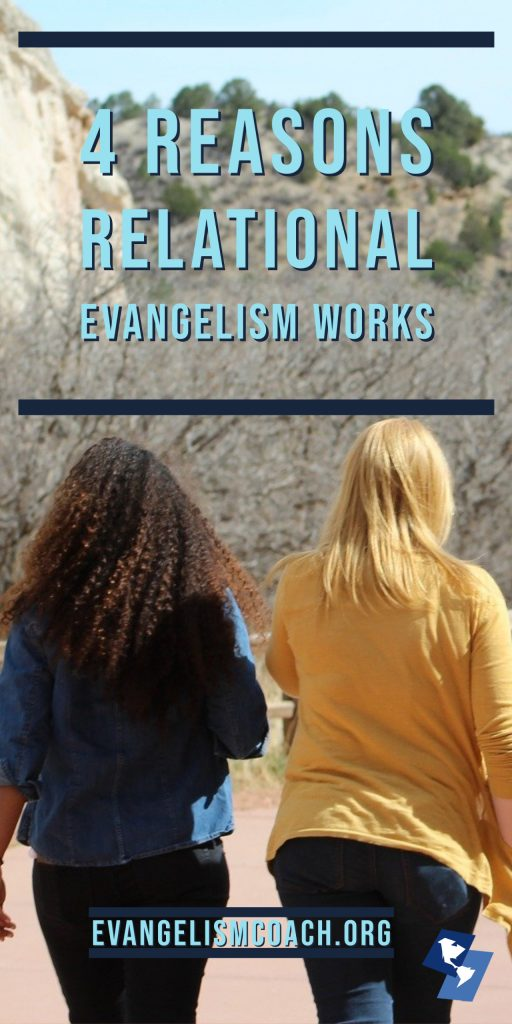 Why is relational evangelism the most effective form of personal evangelism? These 4 reasons suggest why relational evangelism works