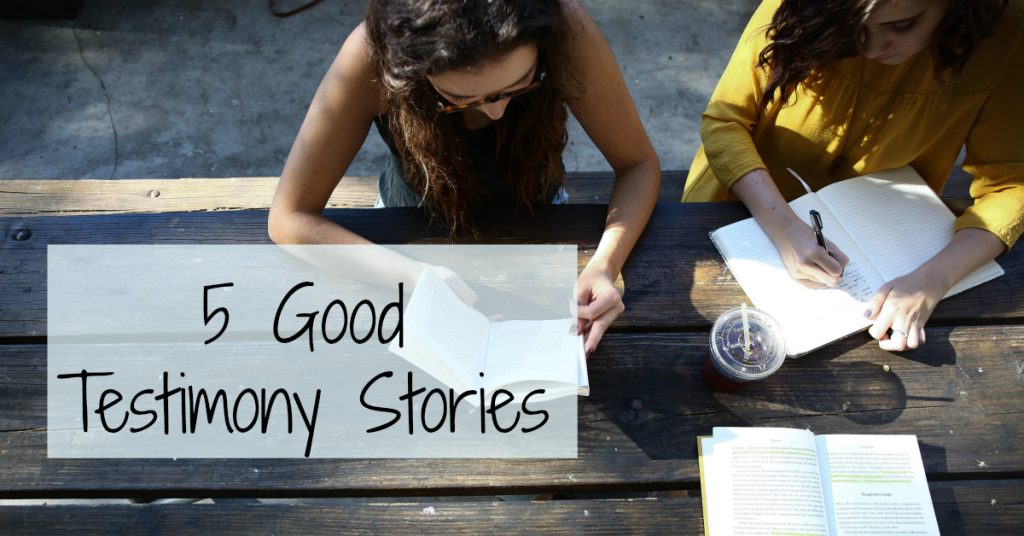 Quick List of 5 Story Types to Help Frame Your Testimony
