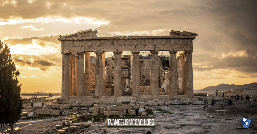The Parthenon at Sunset, Athens, Paul's visit in the missionary journey