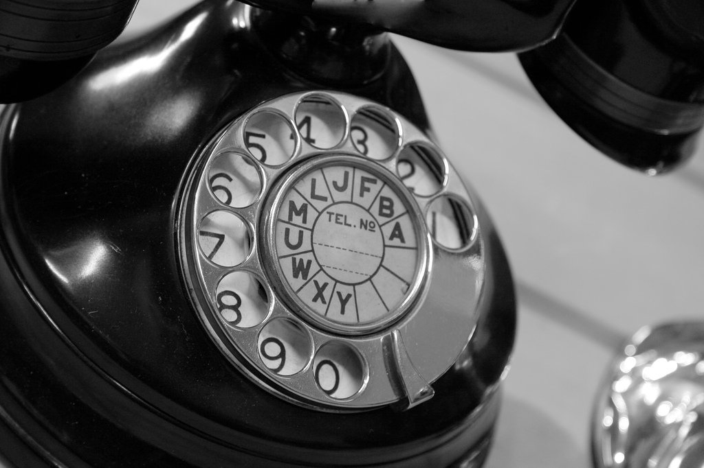 A vintage telephone, for a phone call that lead to a divine appointment