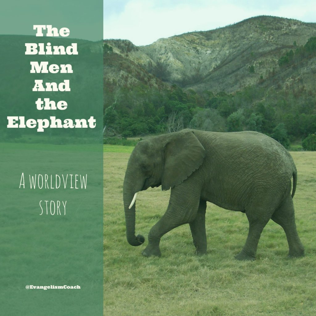 The Traditional Story about 3 Bilnd Men feeling an elephant