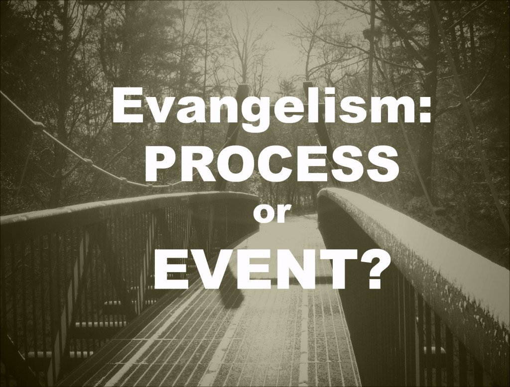 Evagellism is a Process or Is it an Event?  Good Question.