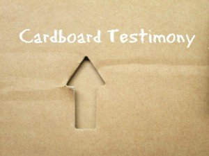 Can you give your testimony on two sides of a cardboard?