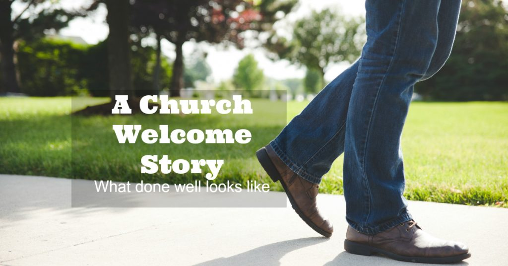 This story shows in real life what well done welcome ministry looks like.