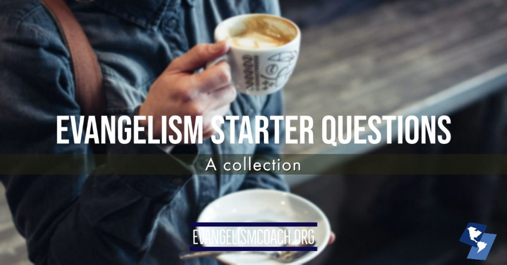 Evangelism Starter Questions - A collection.   Person drinking coffee