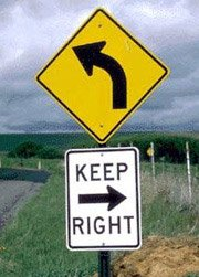 Confusion Road Sign
