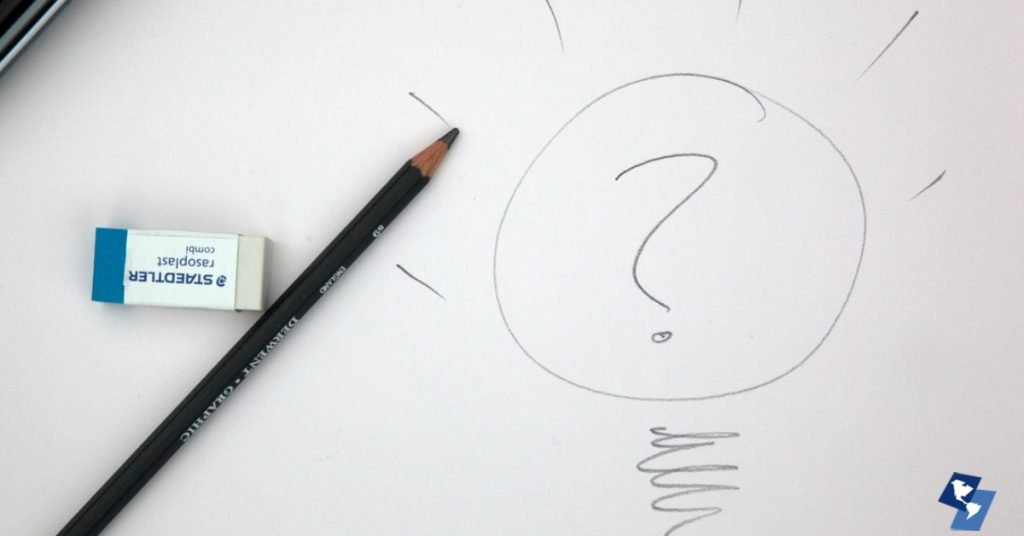 Strategy Whiteboard with Question Mark
