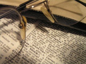 Dictionary with Glasses for Definition