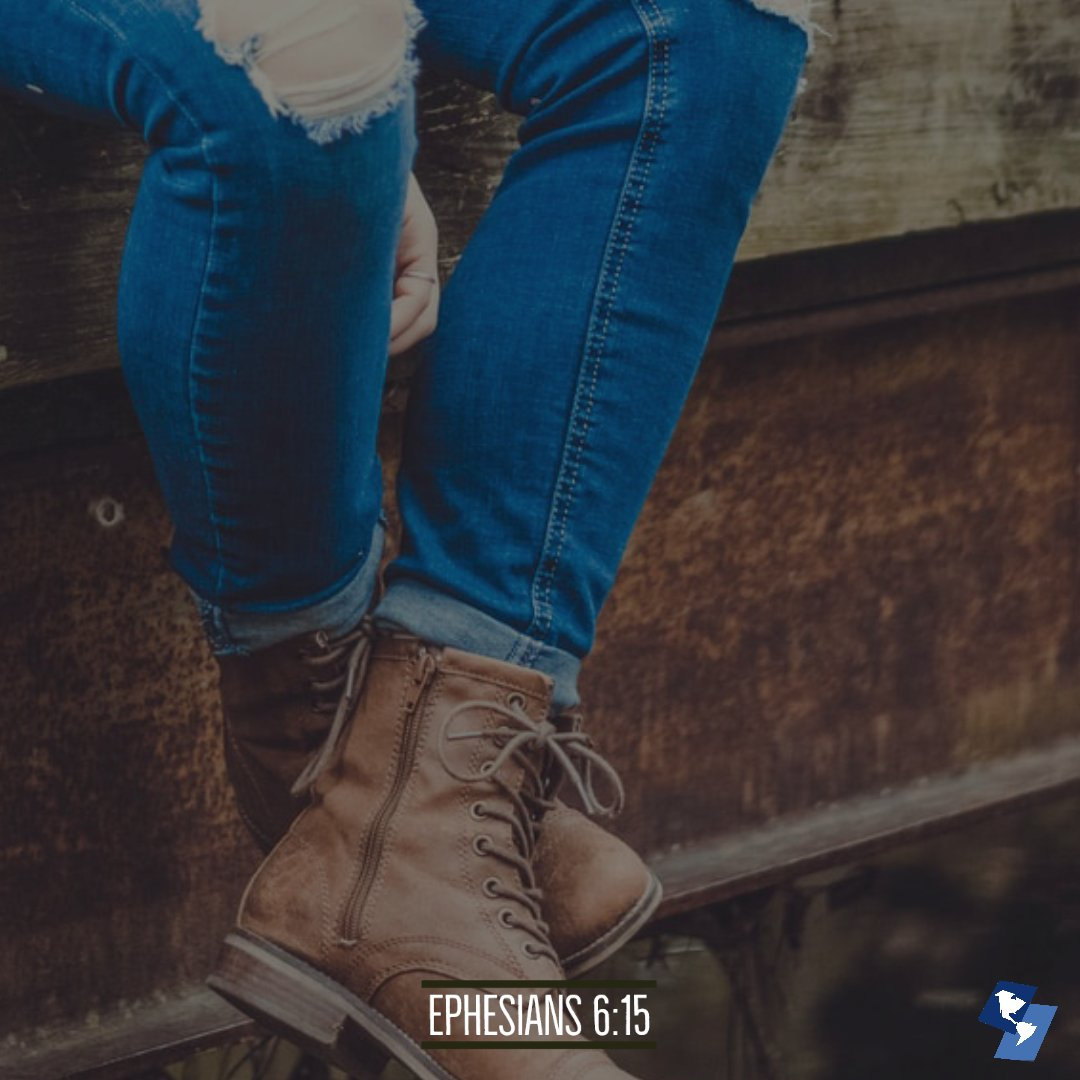 Person with Boots, connected to theme of feet with the gospel
