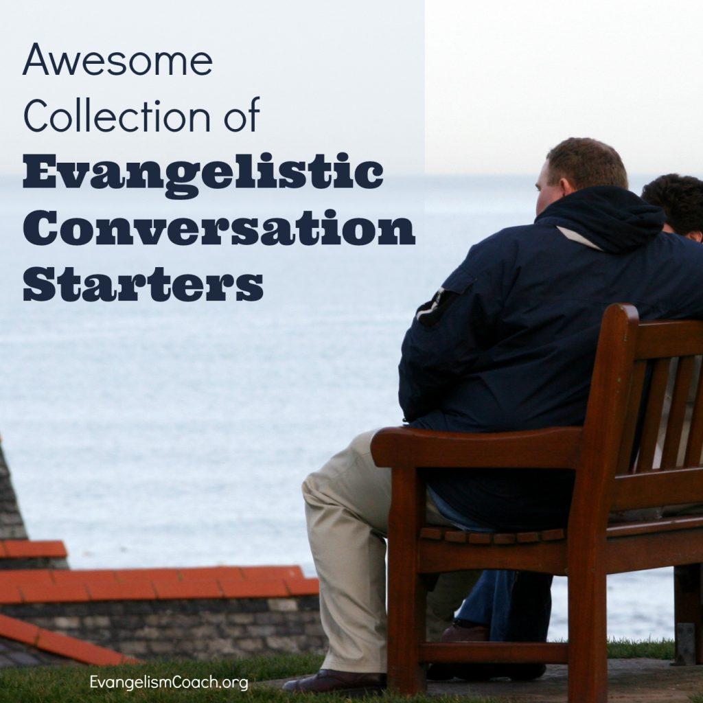 Collection of Questions to Use in Personal Evangelism - 2 people on a bench