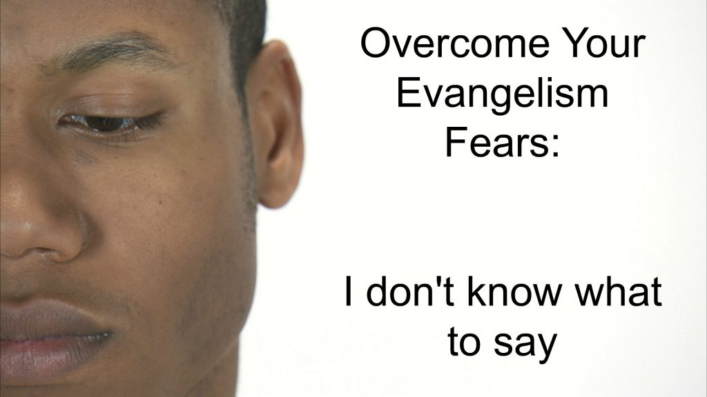 Face Profile - Captioned Overcome Your Evangelism Fears: I don't know what to say