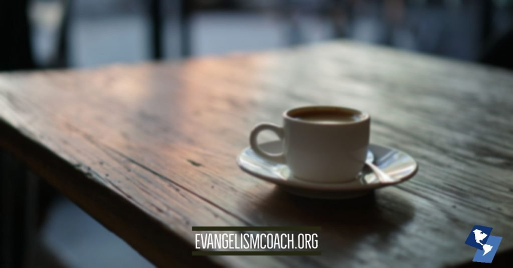 Coffee Shop evangelism conversations help a non-believer take another step toward Jesus.