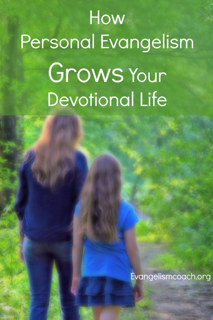 Personal Evangelism will reignite your personal devotional times.  Read how