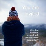 Could giving an invitation to church be considered personal evangelism?