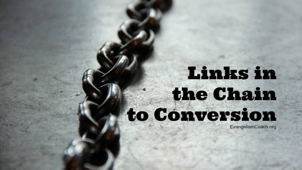There are many links in the chain to a conversion of a person