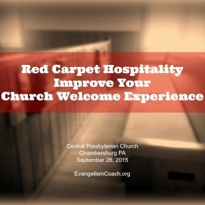Conference: Red Carpet Hospitality Seminar – Chambersburg, PA September 2015