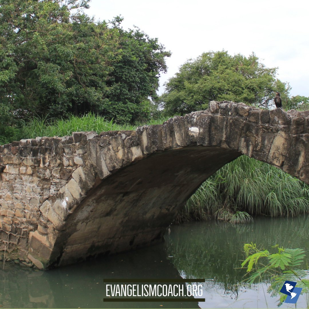 Puente del Rey in Panama Viejo, symbol for Bridge Illustration