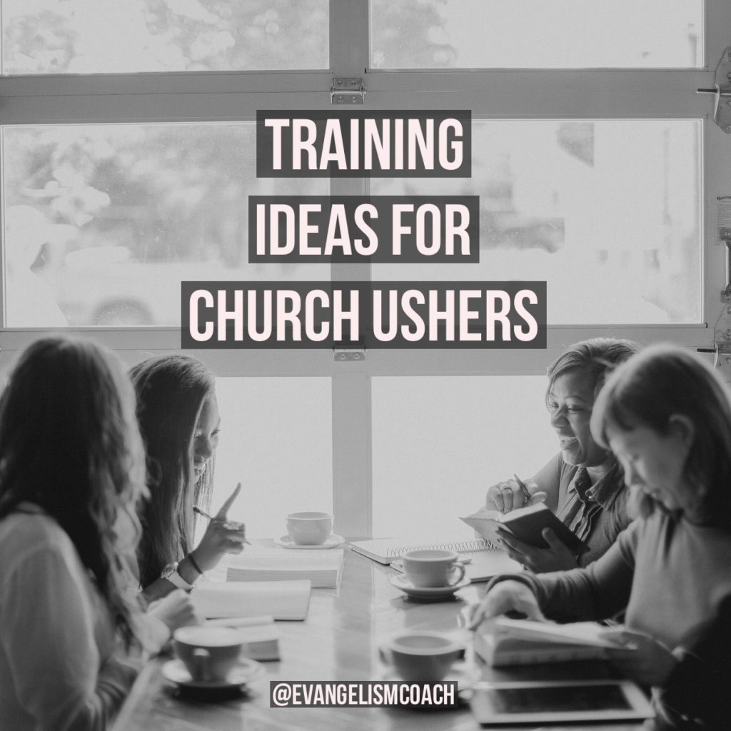 Ministry of Church Ushers: Different Training Ideas for church ushers in their ministry.  Women at a Bible Study around a table
