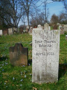 Your Church Website Might get a Cemetary Headstone