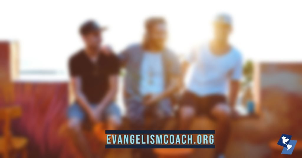 Fruitless evangelism conversations can be difficult - Three men talking about faith.