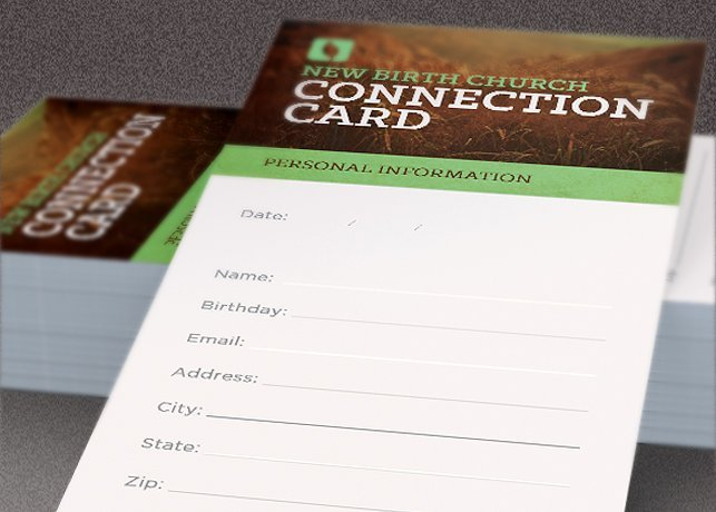 Free Church Connection Card Template from www.evangelismcoach.org