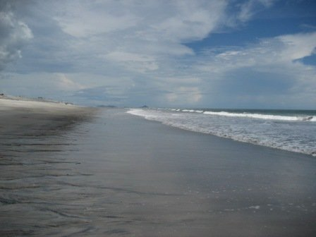 Ocean Waves gently lapping the beach, the ebb and flow of a tide, related to ebb and flow of a passion for evangelism.